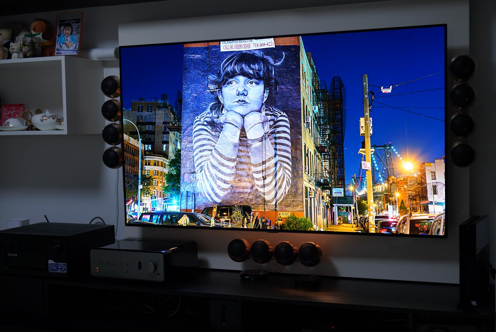 本站首发,LG OLED65C8P OLED电视 开箱安装