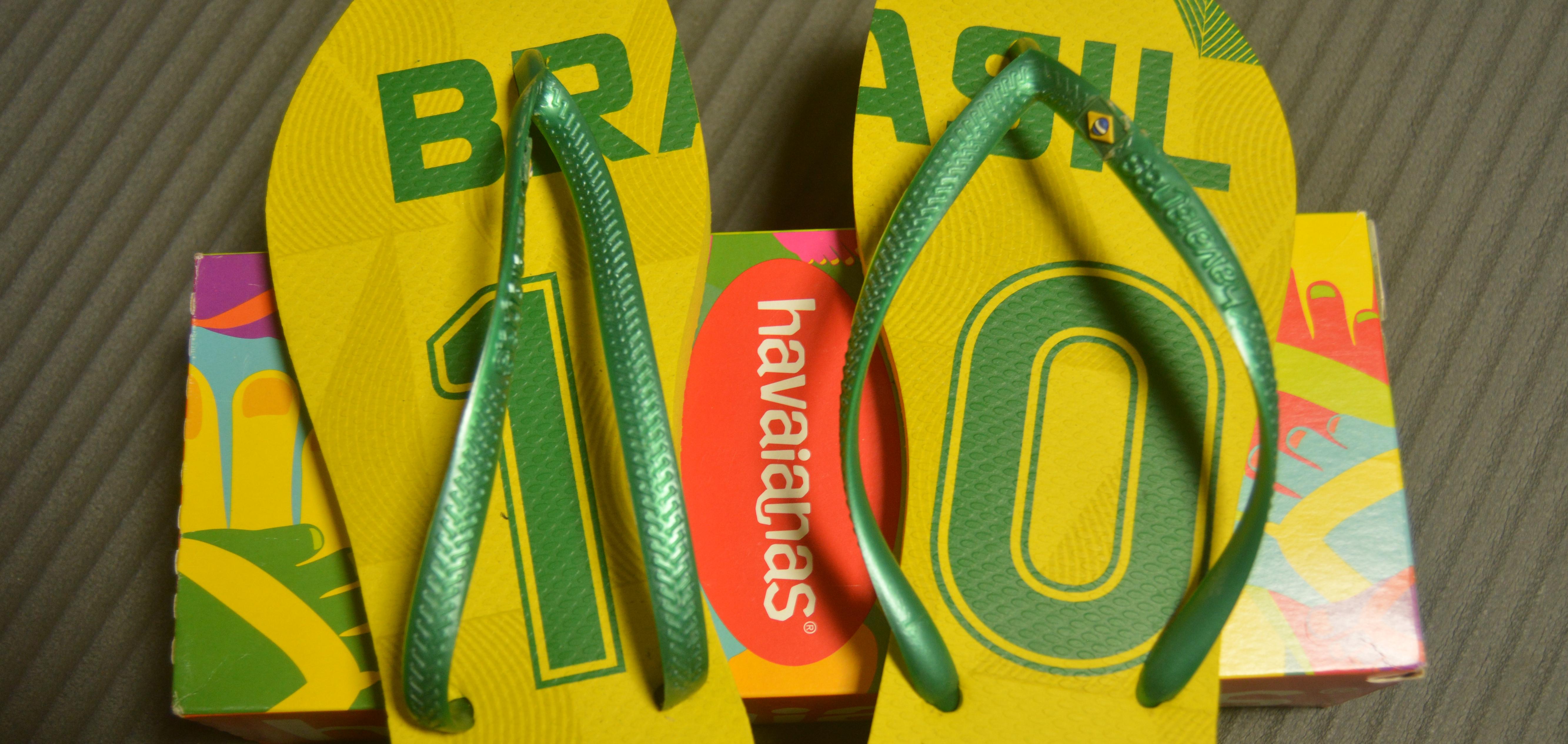 来自巴西的Havaianas哈瓦那 巴西国家队10号人字拖