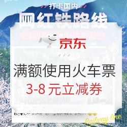 京東火車票立減券 滿額使用