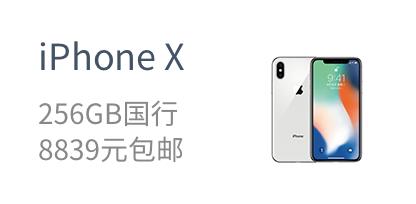iPhone X    256GB国行    8839元包邮