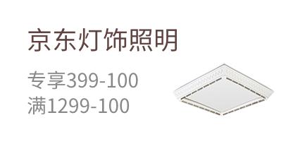 京東燈飾照明 專享399-100 滿1299-100