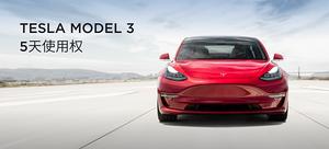 特斯拉Tesla Model 3(5天使用权)