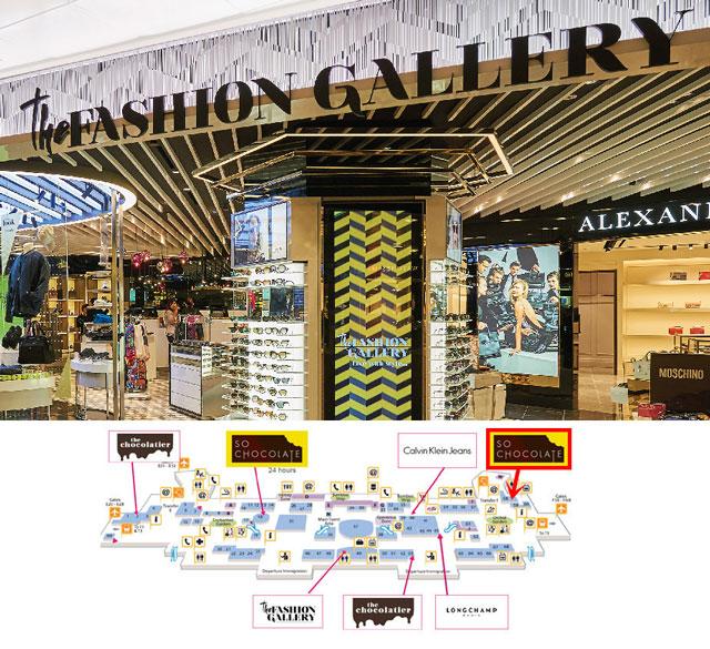 新加坡樟宜机场The Fashion Gallery免税店 银联消费立减5%+免税7%