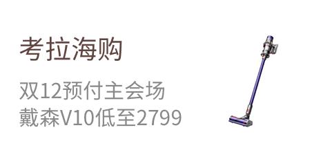 考拉海购  双12预付主会场  戴森V10低至2799