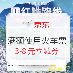 京东火车票立减券 满额使用