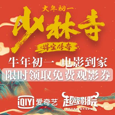 【新春福利8天乐】爱奇艺超级影院 《少林寺之得宝传奇》